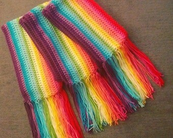 Create your own design - Crochet Scarf with Fringe