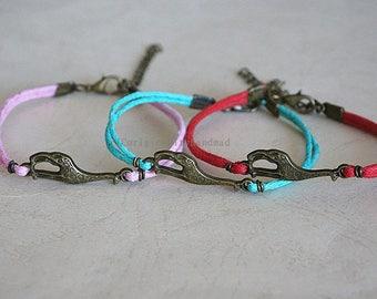 Handmade 26 kinds of color bracelets, bronze  Lovely giraffe bracelets.