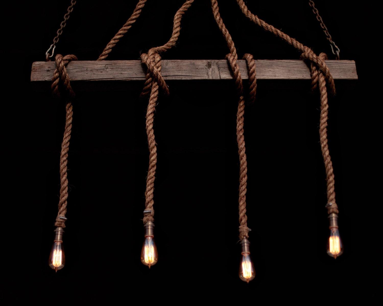 the 4 beam industrial rope light barn pendant wood ceiling chandelier accent hanging light rustic light edison bulb chandelier barn board