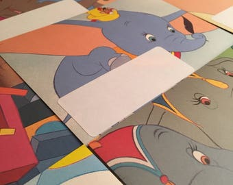 Handmade Envelopes Disney's Dumbo. Letter Writing Set Handcrafted Pack of 5