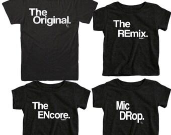 Coincidencia perfecta   Camisetas Duo   Para padres y niños   Equipo familia camisas   Origina   Remix   Encore   Camiseta de Papá lindo   Camiseta chico lindo   Bonito