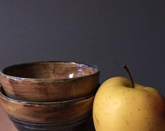Ocean rust bowls set