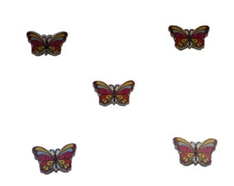 kids buttons , butterfly , multicolored