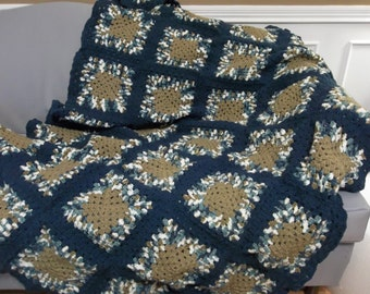 "NEW, 52""X72"", Free Shipping(USA), Crochet throw blanket."
