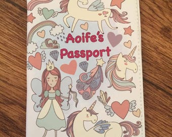 Personalised Passport Covers *First Passport* Ideal for Holidays, presents for children