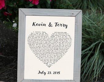 Heart Shaped Wedding Song Print