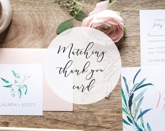Matching Thank you card  for any designs in the shop