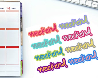 Bold Weekend Banner Planner Stickers! Perfect for your Erin Condren Life Planner, Paper Plum, Filofax!