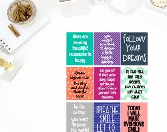 Inspire #1 Quote Stickers! Perfect for your Erin Condren Life Planner, calendar, Paper Plum, Filofax!