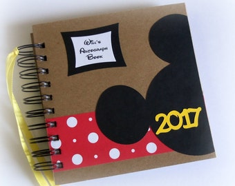 2018 PERSONALIZED -  Disney Autograph Book - Scrapbook - Travel Journal - Vacation - Photo Book -