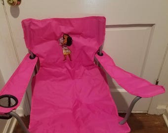 Moana adult size hot pink chair