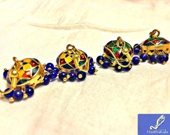 Indian Earrings,Enamel Earrings,Meenakari Earrings,Boho Earrings,Bohemian Jewelry