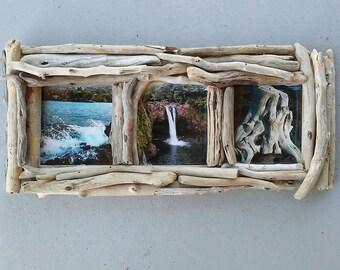 5x5 frame 3 photo picture frame driftwood frame driftwood decor decorative wood - Driftwood Picture Frames