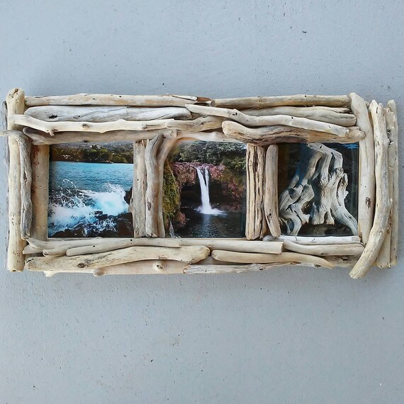 5x5 frame 3 photo picture frame driftwood frame driftwood decor decorative wood
