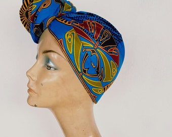 head wrap and matching wristlet