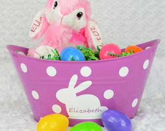 Pink Bunny Stuffy - Easter Gift - Personalized Gift - Easter Bunny
