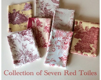 Toile de Jouy Collection - 7 Reds