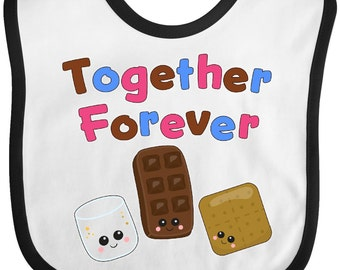 Together Forever S'mores Baby Bib by Inktastic