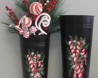 Peppermints and Pine Vase