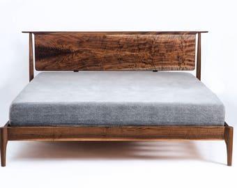 Mid Century Modern Platform bed // Storage Bed optional