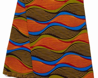 African print fabric sold by yard/ multicolor Ankara fabric/ African Fabric Shop/ African Supplies for dress/ african headtie/ Ankara fabric