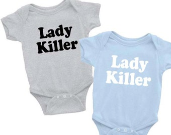 Lady Killer Onesie Baby Boby Baby Gift Baby Boy Clothes Newborn Baby Clothes Kids Clothes Boys Clothes Baby Gift Funny Baby Onesies Baby Boy