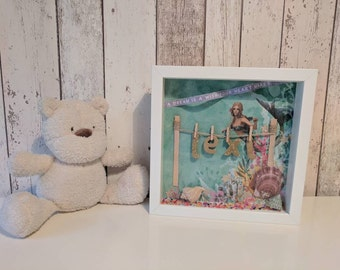 Personalised magical mermaid frame