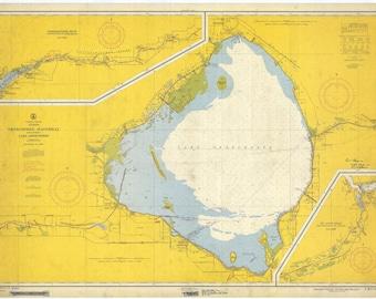 Lake Okeechobee Map 1958