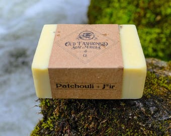 Patchoui + Fir / Essential Oil Soap / Handmade Cold Process Soap / Vegan Soap