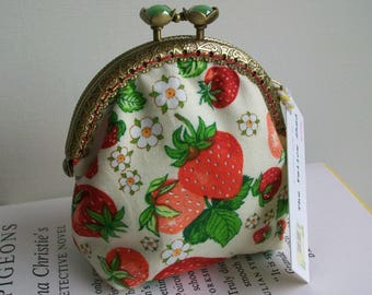 Strawberries and Cream Clasp Coin Purse