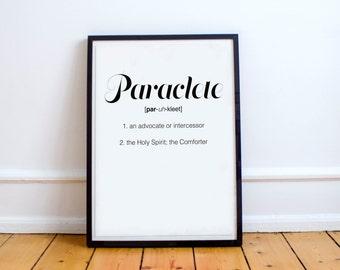 Paraclete Poster - Print, Digital Print, Paraclete, Holy Spirit, Inspiration, Quote