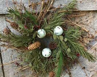 Grapevine Twig Wreath - Pip Berry Wreath - Christmas Wreath - Candle Ring-Dragon Vine Wreath -Winter Wreath -Free Shipping