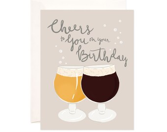 Happy Birthday Card: Handmade Cheers To You On Your Birthday Greeting Card