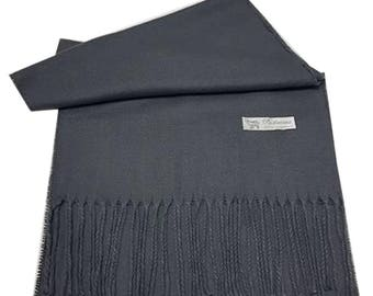 Men Super Soft Cashmere Luxury Feel Scarf/Shawl For Day To Evening Occasions (Grey)