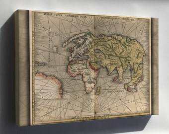 Canvas 24x36; Map Of The World 1513 P3