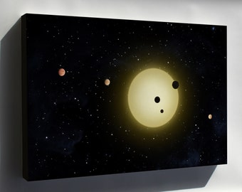 Canvas 24x36; Kepler-11 Planetary System, With At Least 6 Planets In Short Orbits