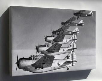 Canvas 24x36; Douglas O-46A, North American O-47 1940