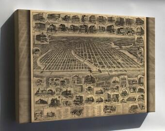 Canvas 24x36; Map Of Asbury Park Ocean Grove New Jersey 1897