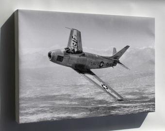 Canvas 24x36; F-86 Sabre