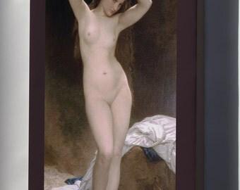 Canvas 16x24; Bather  William-Adolphe Bouguereau (1825-1905) - Bather (1870