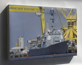 Canvas 16x24; Guided-Missile Destroyer Uss Gravely (Ddg 107)