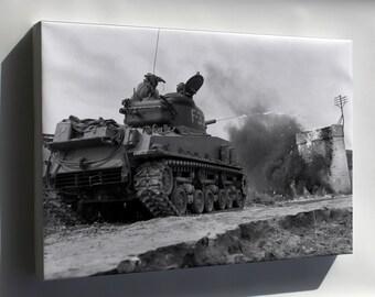 Canvas 16x24; M4A3R3 Sherman Flame Tank