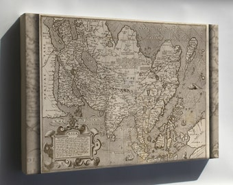 Canvas 16x24; Map Of Asia 1602