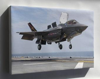 Canvas 16x24; F-35B Lightning Ii Aircraft Lands Aboard Uss Wasp (Lhd 1)