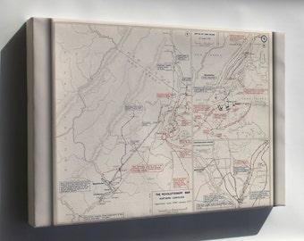 Canvas 16x24; Map Of Revolutionary War New York And Trenton, 1776-1777