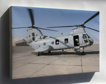 Canvas 16x24; Ch-46 Sea Knight