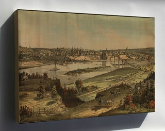 Canvas 16x24; View Of St. Paul, Minnesota 1874 Saint Paul
