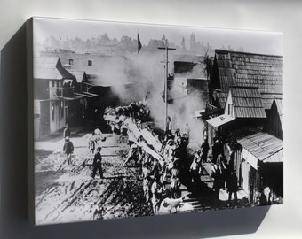 Canvas 16x24; Chinese New Year Parade In Chinatown, Los Angeles, Between 1882-1917 (Exbt-Las-60)