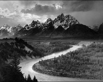 16x24 Poster; Grand Teton National Park Ansel Adams The Tetons And The Snake River (1942) Grand Teton National Park, Wyoming