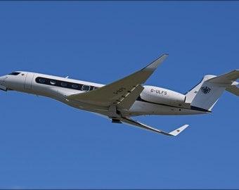 16x24 Poster; Gulfstream G650 Departs Bristol 23Rdaug2014 Arp
